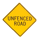 UNFENCED ROAD
